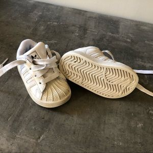 adidas Shoes - Adidas white tennis shoes (12-18 months old)